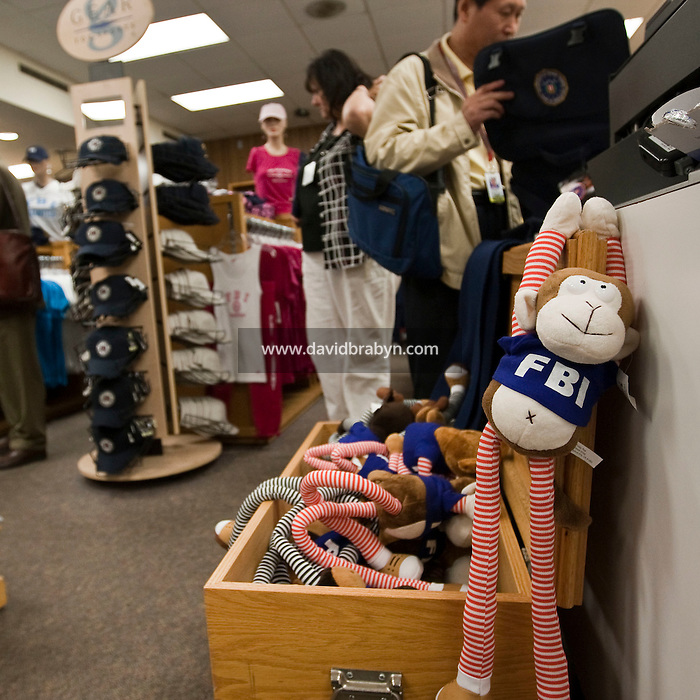 View inside the gift shop at the FBI Academy in Quantico, VA, USA, 12 May 2009.