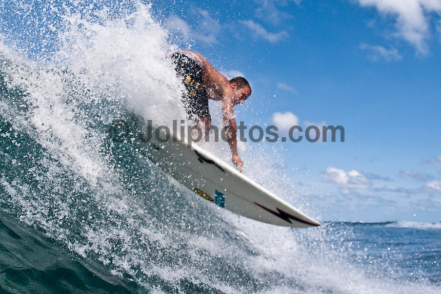 MIGUEL XIMENEZ (PRT) surfing in the South Male Atolls, Maldives (Monday, June 15th, 2009). Photo: joliphotos.com