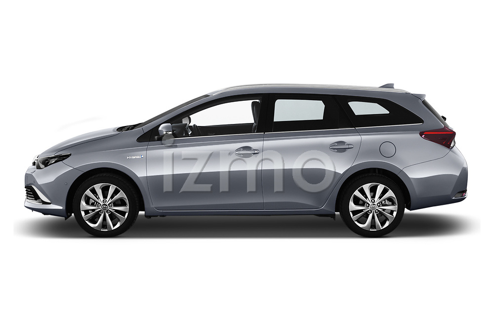 Car driver side profile view of a 2018 Toyota Auris Touring Sports Lounge 5 Door Wagon