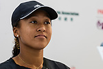 Naomi Osaka of Japan talks to media during the WTA Prudential Hong Kong Tennis Open 2018 at the Victoria Park Tennis Stadium on 08 October 2018 in Hong Kong, Hong Kong. Photo by Yu Chun Christopher Wong / Power Sport Images