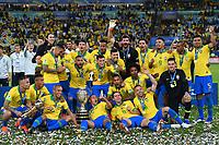 (190708) -- RIO DE JANEIRO, July 8, 2019 -- Brazil s football team celebrates during the awarding ceremony after the Copa America 2019 final match between Brazil and Peru, held in Rio de Janeiro, Brazil, July 7, 2019. Brazil won 3-1. ) (SP)BRAZIL-RIO DE JANEIRO-FOOTBALL-COPA AMERICA 2019-FINAL-BRAZIL VS PERU XinxYuewei PUBLICATIONxNOTxINxCHN  <br /> Coppa America 2019 Finale<br /> Foto Imago/Insidefoto