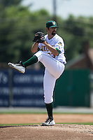 Lynchburg Hillcats starting pitcher Adam Plutko (23) in action against the Frederick Keys at Calvin Falwell Field at Lynchburg City Stadium on May 14, 2015 in Lynchburg, Virginia.  The Hillcats defeated the Keys 6-3.  (Brian Westerholt/Four Seam Images)