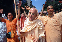New York, NY - Hare Krishna devotees march down Fifth Avenue for the Feast of the Charriots