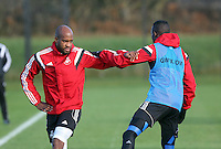 Pictured: Dwight Tiendalli (L) Wednesday 10 December 2014<br />