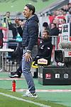 14.04.2019, Merkur Spielarena, Duesseldorf , GER, 1. FBL,  Fortuna Duesseldorf vs. FC Bayern Muenchen,<br />  <br /> DFL regulations prohibit any use of photographs as image sequences and/or quasi-video<br /> <br /> im Bild / picture shows: <br /> Niko Kovač Trainer / Headcoach (Bayern Muenchen), regt sich heftig auf, Gestik, Mimik,   <br /> <br /> Foto © nordphoto / Meuter