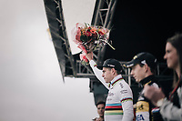 Wout Van Aert (BEL/Cr&eacute;lan-Charles) finishing 2nd behind Mathieu van der Poel (NED/Beobank-Corendon)<br /> <br /> Super Prestige Ruddervoorde / Belgium 2017