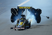 Jul, 22, 2012; Morrison, CO, USA: NHRA top fuel dragster driver Morgan Lucas during the Mile High Nationals at Bandimere Speedway. Mandatory Credit: Mark J. Rebilas-