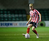 Lincoln City U18's Josh Woodcock<br /> <br /> Photographer Chris Vaughan/CameraSport<br /> <br /> The FA Youth Cup Second Round - Lincoln City U18 v South Shields U18 - Tuesday 13th November 2018 - Sincil Bank - Lincoln<br />  <br /> World Copyright © 2018 CameraSport. All rights reserved. 43 Linden Ave. Countesthorpe. Leicester. England. LE8 5PG - Tel: +44 (0) 116 277 4147 - admin@camerasport.com - www.camerasport.com