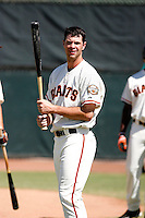 Brandon Belt -San Francisco Giants 2009 Instructional League. .Photo by:  Bill Mitchell/Four Seam Images..
