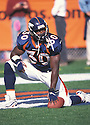 Denver Broncos Terrell Davis (30) during a game against the Jacksonville Jaguars at Mile High Stadium in Denver, Colorado on October 24, 1998.  The Broncos  beat the Jaguars 37-24. Terrell Davis  played for 7 years all with the Broncos and was a 3-time Pro Bowler.