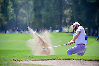 Andy Sullivan (ENG) hits from the trap on 7 during round 3 of the World Golf Championships, Mexico, Club De Golf Chapultepec, Mexico City, Mexico. 3/4/2017.<br /> Picture: Golffile | Ken Murray<br /> <br /> <br /> All photo usage must carry mandatory copyright credit (&copy; Golffile | Ken Murray)