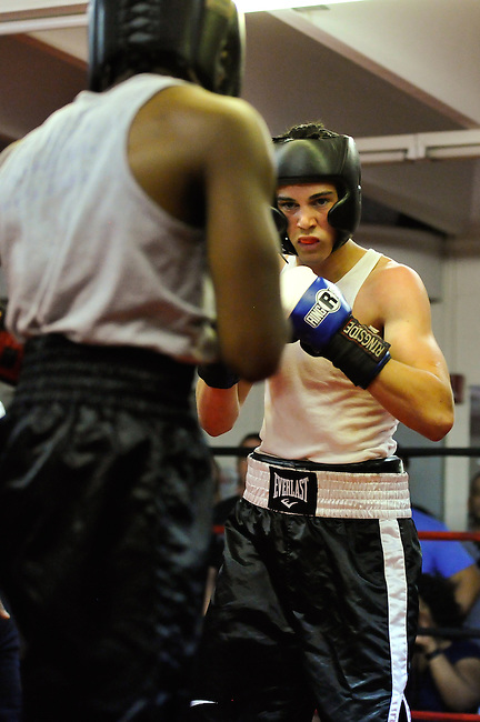 """Fighters compete to be crowned """"Ring King"""" at Roccos MMA gym, In Northeast Philadelphia, on June 30, 2012"""