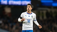 Lorenzo Pellegrini (Roma) of Italy during the International Friendly match between Argentina and Italy at the Etihad Stadium, Manchester, England on 23 March 2018. Photo by Andy Rowland.