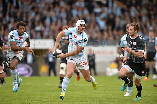 12.04.2014. Paris, France. Top 14 Rugby Union. Racing Metro versus Biarritz.  Alexandre Dumoulin (rm)