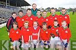 Pupils from Kilcummin N.S. pictured at the Killarney Garda football blitz in Fitzgerald Stadium, Killarney on Friday, front row l-r: Lorcan O'Connor, Kate Maher, Emily Egan, Niall McCarthy, Niall Daly, Cathal Healy. Back row l-r: David Gleeson, DJ O'Leary, David Sugrue, Niall O'Mahony (teacher), Keith O'Leary, James Nagle, Cian Fahy, Sean O'Leary.