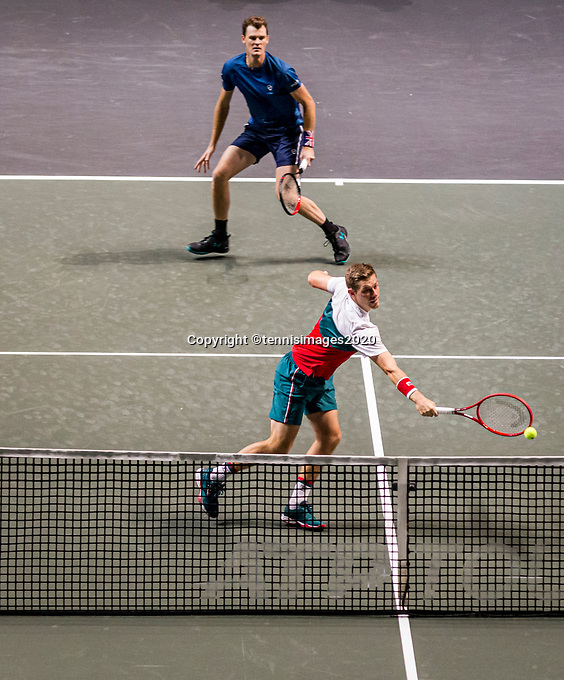 Rotterdam, The Netherlands, 14 Februari 2020, ABNAMRO World Tennis Tournament, Ahoy, Doubles: Jamie Murray / Neal Skupski <br /> Photo: www.tennisimages.com