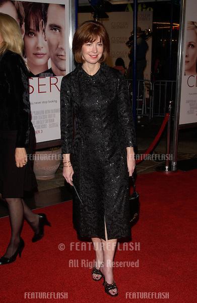Nov 22, 2004; Los Angeles, CA: Actress DANA DELANEY at the Los Angeles premiere of Closer..