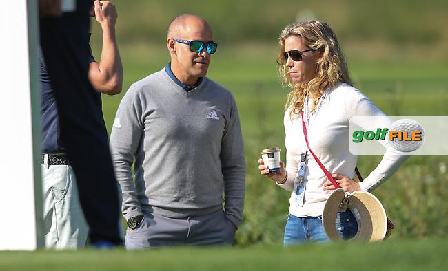 Rafa Cabrera-Bello (ESP) sister watching during Round Two of the 2015 BMW International Open at Golfclub Munchen Eichenried, Eichenried, Munich, Germany. 26/06/2015. Picture David Lloyd | www.golffile.ie