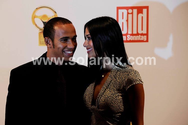 **ALL ROUND PICTURES FROM SOLARPIX.COM**.**SYNDICATION RIGHTS FOR UK AND SPAIN ONLY**.Lewis Hamilton and Nicole Scherzinger at the 'Goldenes Lenkrad' (Golden Steering Wheel) Awards in Berlin, Germany. 5th November 2008..This pic: Lewis Hamilton and Nicole Scherzinger..JOB REF: 7806 CPR (Bilan/dfd)   DATE: 05_11_2008.**MUST CREDIT SOLARPIX.COM OR DOUBLE FEE WILL BE CHARGED* *UNDER NO CIRCUMSTANCES IS THIS IMAGE TO BE REPRODUCED FOR ANY ONLINE EDITION WITHOUT PRIOR PERMISSION*