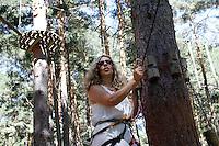 La cantante Maria Monsonis, componente del grupo musical Complices, durante una vista junto a familiares y amigos al Parque Aventura Amazonia de Cercedilla, Madrid.2 de Agosto de 2012..(Alterphotos/Acero) /NortePhoto.com<br />  <br /> **CREDITO*OBLIGATORIO** *No*Venta*A*Terceros*<br /> *No*Sale*So*third* ***No*Se*Permite*Hacer Archivo***No*Sale*So*third*