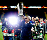 Manchester United manager Jose Mourinho celebates with the trophyafter the UEFA Europa League Final match at the Friends Arena, Stockholm. Picture date: May 24th, 2017.Picture credit should read: Matt McNulty/Sportimage