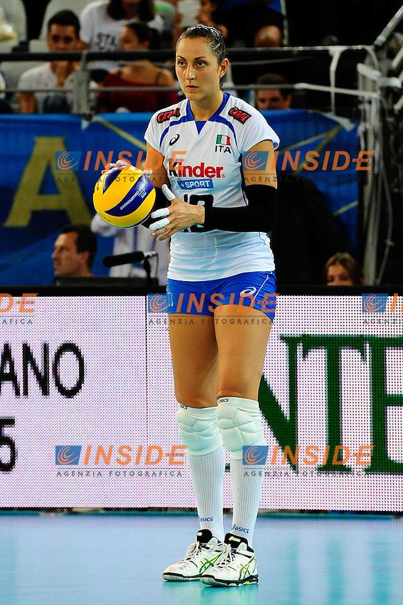 Italia vs Germania<br /> 18 Carolina Del Pilar Costagrande ITA<br /> FIVB Volleyball Women's World Championship Italy 2014 <br /> Rome 25-09-2014 Palaeur Foto F.Pasquali/Insidefoto