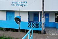 Posto de Saude em Vila Progresso, Arquipelago do Bailique, Macapa. Amapa. 2012. Foto de Reinaldo Minillo.