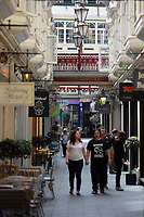 Pictured: Castle Arcade, Cardiff Thursday 25 May 2017<br />Re: Preparations for the UEFA Champions League final, between Real Madrid and Juventus in Cardiff, Wales, UK.
