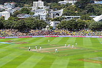 A general view during day three of the International Test Cricket match between the New Zealand Black Caps and India at the Basin Reserve in Wellington, New Zealand on Sunday, 23 February 2020. Photo: Dave Lintott / lintottphoto.co.nz