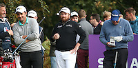 On the tee is Shane Lowry (IRL) during the Final Round of the British Masters 2015 supported by SkySports played on the Marquess Course at Woburn Golf Club, Little Brickhill, Milton Keynes, England.  11/10/2015. Picture: Golffile | David Lloyd<br /> <br /> All photos usage must carry mandatory copyright credit (© Golffile | David Lloyd)