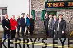 A PLAQUE was unveiled to commemorate where Monsignor Hugh O'Flaherty spent a period of his childhood years, on the site which is now The Huddle Bar on Saturday Cilr Sam Locke, Jerry O'Grady, Linda Louth Superintendent Pat Sullivan, Kirsten Leeowl  Fr Sean Hanafin  Tralee Mayor Jim Finucane Mayor of Killarney Municipal Authority John Joe Culloty, KERRY senator Paul Coghlan, Norma Foley,