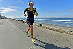 OCEANSIDE, CA - APRIL 7:  Anne Haug of Germany runs to win during the IRONMAN 70.3 Oceanside Triathlon on April 7, 2018 in Oceanside, California. (Photo by Donald Miralle for IRONMAN)