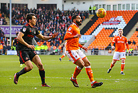 Blackpool's Liam Feeney shields the ball from Sunderland's Luke O'Nien<br /> <br /> Photographer Alex Dodd/CameraSport<br /> <br /> The EFL Sky Bet League One - Blackpool v Sunderland - Tuesday 1st January 2019 - Bloomfield Road - Blackpool<br /> <br /> World Copyright © 2019 CameraSport. All rights reserved. 43 Linden Ave. Countesthorpe. Leicester. England. LE8 5PG - Tel: +44 (0) 116 277 4147 - admin@camerasport.com - www.camerasport.com