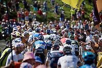 Luke Durbridge (AUS/Orica-GreenEDGE) sticking out<br /> <br /> 2014 Tour de France<br /> stage 16: Carcassonne - Bagn&egrave;res-de-Luchon (237km)