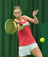 Rotterdam, The Netherlands, March 13, 2016,  TV Victoria, NOJK 12/16 years, Anouk Koevermans (NED)<br /> Photo: Tennisimages/Henk Koster