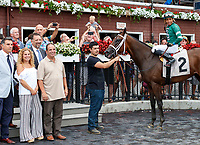 War Value (no. 2), ridden by  Manuel Franco., and trained by Todd Pletcher wins Race 7, Aug. 3, 2018 at the Saratoga Race Course, Saratoga Springs, NY.   (Photo credit: Bruce Dudek/Eclipse Sportswire)