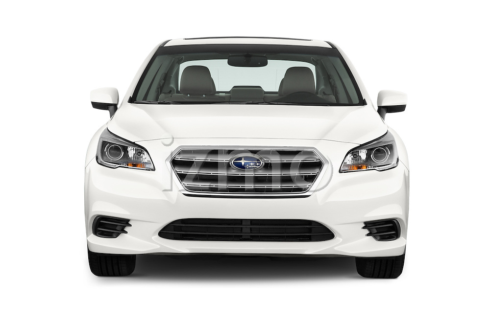 Car photography straight front view of a 2015 Subaru Legacy 2.5i Premium 4 Door Sedan Front View