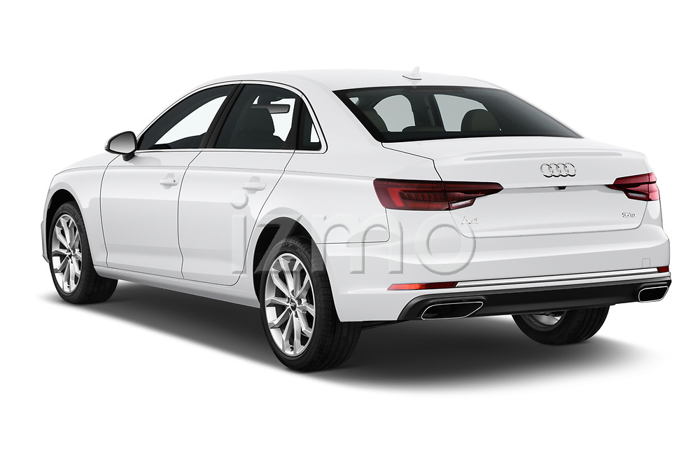 Car pictures of rear three quarter view of a 2019 Audi A4 Premium 4 Door Sedan angular rear