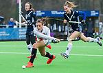 AMSTELVEEN -  Marijn Veen (A'dam) scoort 1-1   tijdens de hoofdklasse competitiewedstrijd dames, Pinoke-Amsterdam (3-4). COPYRIGHT KOEN SUYK