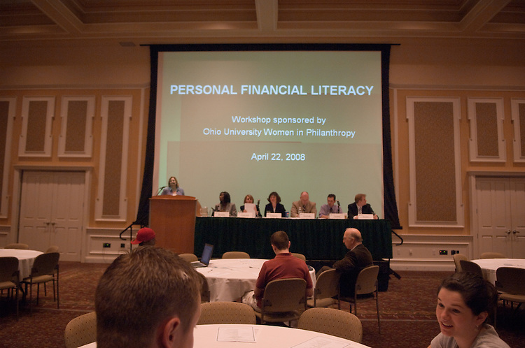 18654Women in Philanthropy Financial Literacy Workshop : Coach Crawley, head speaker and a panel of experts