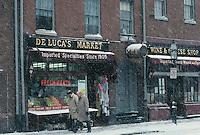 DeLuca Market, Charles St., winter