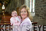 Michelle Kerins and her Daughter Roisin from Cockleshell Road, The Kerries, who will be Christened during the Easter ceremonies at Saint Johns Church Tralee on Saturday night which will be broadcast on RTE.