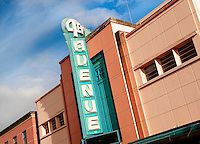 Art deco building, Fourth Avenue Theatre, Lathrop Building, movie theater, Anchorage, Alaska