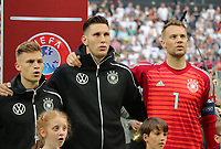 Joshua Kimmich (Deutschland Germany), Niklas Süle (Deutschland Germany), Torwart Manuel Neuer (Deutschland Germany) - 11.06.2019: Deutschland vs. Estland, OPEL Arena Mainz, EM-Qualifikation DISCLAIMER: DFB regulations prohibit any use of photographs as image sequences and/or quasi-video.