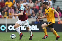Burnley's Phillip Bardsley and Wolverhampton Wanderers' Diogo Jota<br /> <br /> Photographer Rachel Holborn/CameraSport<br /> <br /> The Premier League - Wolverhampton Wanderers v Burnley - Sunday 16th September 2018 - Molineux - Wolverhampton<br /> <br /> World Copyright &copy; 2018 CameraSport. All rights reserved. 43 Linden Ave. Countesthorpe. Leicester. England. LE8 5PG - Tel: +44 (0) 116 277 4147 - admin@camerasport.com - www.camerasport.com