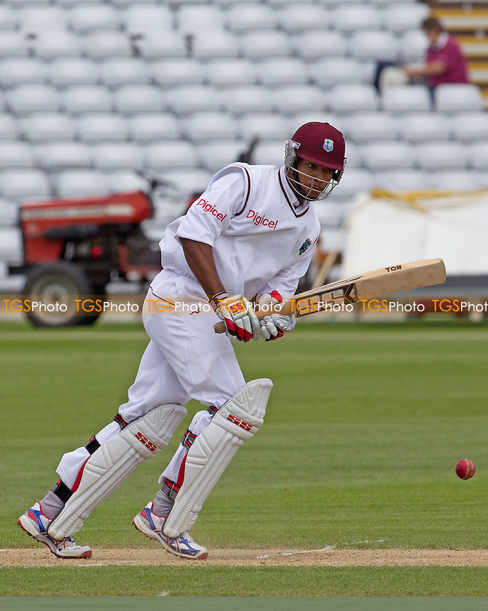 Kieran Powell, West Indies plays with ease through the mid wicket area - West Indies vs England Lions - International Cricket Match at The County Ground, Northamptonshire CCC - 12/05/12 - MANDATORY CREDIT: Ray Lawrence/TGSPHOTO - Self billing applies where appropriate - 0845 094 6026 - contact@tgsphoto.co.uk - NO UNPAID USE.