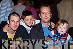 Eamon Carey, Patrick Carey, Matt Lacey and Kieran Lacey Killarney having fun the darts festival in the INEC Killarney on Sunday..   Copyright Kerry's Eye 2008