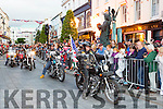 Bikers driving in the USA Independence parade in Killarney on Monday evening