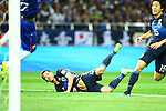 (L-R) Keisuke Honda, Mu Kanazaki (JPN),<br /> MARCH 29, 2016 - Football / Soccer :<br /> Keisuke Honda of Japan scores his team's third goal during the FIFA World Cup Russia 2018 Asian Qualifier Second Round Group E match between Japan 5-0 Syria at Saitama Stadium 2002 in Saitama, Japan. (Photo by Kenzaburo Matsuoka/AFLO)