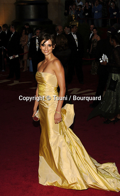 Penelope Cruz arriving at the 77th annual Oscar's.